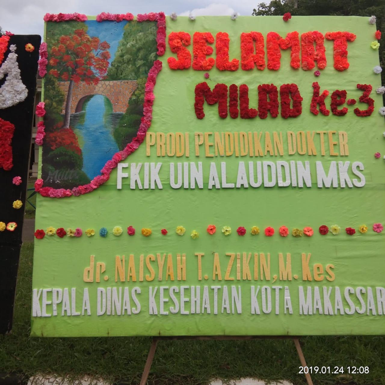 Ucapan Selamat Milad Ke 3 PSPD oleh Kepala Dinkes Kota Makassar